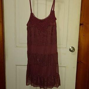 Xhilaration purple lace dress size xsmall NWT